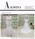 Neue Ankunft plus Größen-weißes/Ivory Hochzeits-Kleid mit Tulle-Hülse