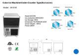 Countertop de Machine van het Ijs met de Productie van het Ijs 80kgs/24h
