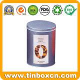 مستديرة قصدير قهوة علبة مع [فوود غرد], معدن قهوة قصدير