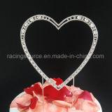 Сердце Rhinestone сбор винограда экстракласса торта венчания высокого качества одиночное