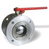 Vávula de bola de aluminio del borde redondo Dn50