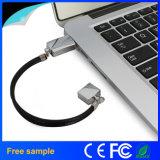 금속 소맷동 Pendrive 팔찌 USB 섬광 드라이브를 인쇄하는 주문 로고