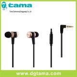 fone de ouvido da em-Orelha de 3.5mm com controle de volume do Mic