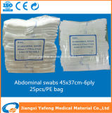 Fornitore professionista della Cina di tamponi addominali 37X45cm-6ply della garza medica