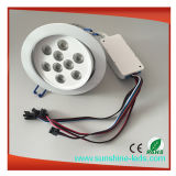 RGBW LED Luz de techo Downlight Spotlight Iluminación empotrada Down Light