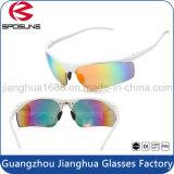 Pesca de ciclo modificada para requisitos particulares ligera blanca del Promo UV400 de la insignia del precio bajo que conduce las gafas de sol del deporte