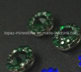 Rhinestone cristalino vendedor caliente de 12m m en la costura en Strass con el Rhinestone de la configuración de la garra (cristal esmeralda de TP-12mm)
