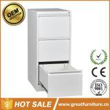 Qualité chaude de ventes meuble d'archivage en métal de bon marché 3 tiroirs