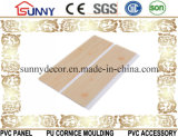 Painel de teto de madeira do PVC da laminação do melhor preço da boa qualidade e painel de parede do plástico, Cielo Raso De PVC