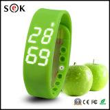 Teléfono elegante W2 del reloj de la nueva de IP68 Reloj Inteligente de la caloría 3D del podómetro W2 LED de la aptitud pulsera elegante impermeable del deporte