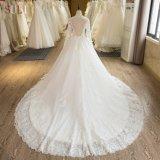 Втулка высокого качества SL-104 длинняя Appliques a - линия платье венчания 2017