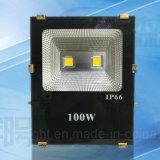 중국 공장 10W/20W/30W/50W/100W LED 옥외 빛 LED 투광램프