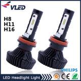 Farol elevado do diodo emissor de luz do lúmen 4500lm H8 H9 H11 H16