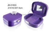La alta calidad de la caja de joyería blanco y púrpura de la serie