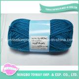 Venta al por mayor de lana de ganchillo hilado que teje a mano de algodón hilado de acrílico