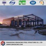 Costruzione prefabbricata d'acciaio per il magazzino in complesso industriale