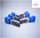 Cutoutil HRC45 Tialnのコーティング 鋼鉄CNCの機械化の部品&#160のためのD3.5*11*D4*50 2f/4f; Square 炭化物の端製造所のツール