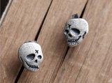 925の純銀製の幻影のSkeletoneのスタッドのイヤリングの男女兼用のパンク様式