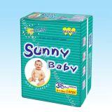 Мягкая поставщика Китая супер дешевая сухая и устранимая солнечная пеленка младенца