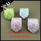 Ville en soie parfaite fabriquée à la main de Shengzhou de relation étroite estampée par Digitals du noeud 100%