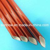 Изоляция Coated стеклоткани силикона огнестойкости Flexilbe Braided Sleeving для электрических проводов