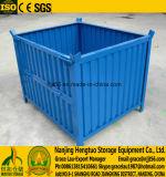 Faltbarer stapelbarer Metallmasse-Ladeplatten-Behälter, gewölbter Platten-Ladeplatten-Rahmen