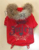 Vêtements protégeant du vent juteux d'animal familier de fourrure de l'hiver de Hoodie de marque d'escompte