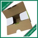 Caixa ondulada impressa colorida embalada plano do projeto