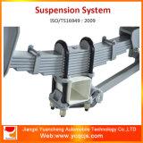 Sistema di sospensione del rimorchio della molla a lamelle dei tre assi