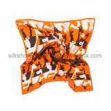Écharpe de soie de sergé de grand dos d'impression de Digitals de tissu en soie