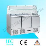 Saladette Kühlraum mit GlasTop-S903curved Glas