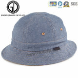 Hochwertiger Heiß-Verkauf Denim-Fischer-Wannen-Hut mit kundenspezifischem Firmenzeichen