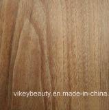 Plancher UV de PVC de couche de couche forte d'usure de fibre de verre