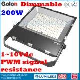 희미한 LED Luminaires Meanwell 운전사 200W Dimmable LED 영사기 빛 200 와트 방수 처리하십시오