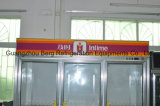 Doppeltes Glass Door Commercial Upright Freezer für Supermarket