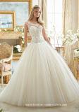 Diamante que perla o vestido de casamento nupcial 2017 Mrl2884 de Tulle do corpete do barco dos vestidos de esfera