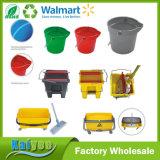 Compartimiento plástico de encargo del barril de la limpieza del redondo o del rectángulo
