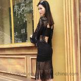 Reizvolles kühles Franse-Handhäkelarbeitbeachwear-Vertuschung-Strand-Kleid