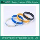 Wristband personalizado manufatura da borracha de silicone do projeto de China