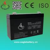 Bateria acidificada ao chumbo recarregável do AGM do Mf 6V 12ah VRLA