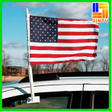 Изготовленный на заказ флаг автомобиля ткани печатание сублимации краски