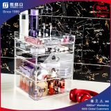 Organisateur cosmétique acrylique clair, cadre de tiroir du renivellement 5 de lucite,