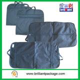 Saco de vestuário do Zipper/saco do terno/tampa do terno com o bolso material não tecido da camisa do Webbing de /Handbag PP