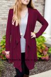 かぎ針編みの編むことによるFashion Sweater Jacket女性(W17-736)