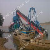 Draga de cubeta Chain de mineração do ouro do rio