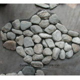 Mattonelle grige della pietra del ciottolo per il passaggio pedonale del giardino