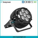 Cumple 7X15W IP65 al aire libre DMX LED de haz estrecho de luz de escenario