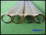 Tubo del gemelo del cuarzo de la silicona fundida del chapado en oro de la pureza elevada