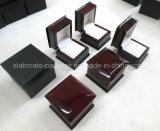 Роскошная деревянная коробка кольца подарка венчания