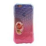 Caja rayada colorida del teléfono de la espina de pescado TPU de la sirena del shell para la galaxia J1 J5 J7 (XSDD-063) de Samsung